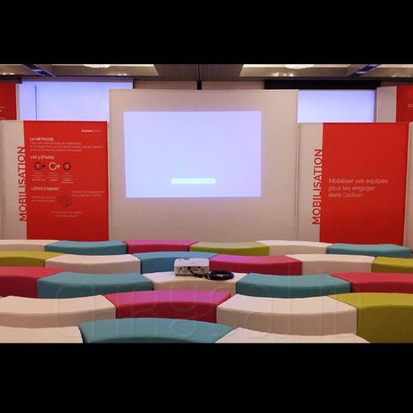 Scénographie, Convention à l'hôtel Hyatt, Paris